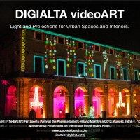 Digialta VideoArt. Light and projections for urban spaces and interiors.